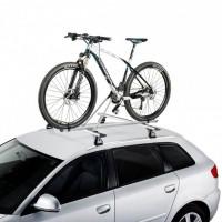 Bike Rack G Portabicicletas de techo en acero (gris). Equipado con doble pomo antirrobo.