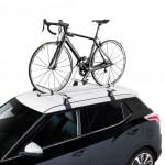 Alu Bike Portabicicletas de techo con carril de aluminio. Equipado con doble pomo antirrobo.