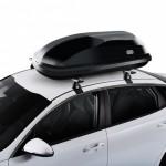 Cofre de techo con diseño funcional para montaje sobre barras .Box 340N -negro brillo- U80