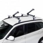 Ski Rack 4 Portaesquís para montaje sobre barras de techo con innovador sistema de cierre y antirrobo incluido.